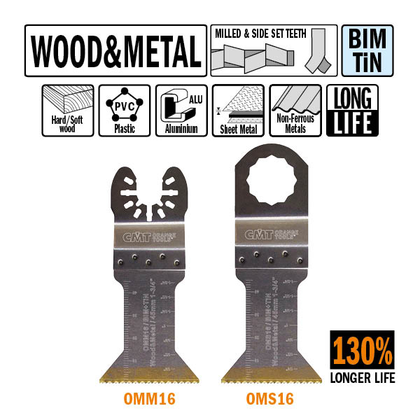45mm Extra-Long Life Plunge and Flush-Cut for Wood and Metal