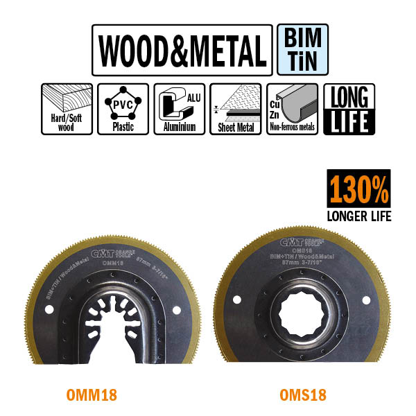 87mm Extra-Long Life Radial Saw blade for Wood and Metal