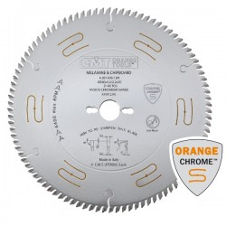 Industrial low noise & chrome coated saw blades with TCG grind