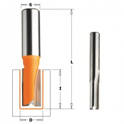 Straight router bits, short series CMT