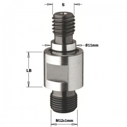 Adaptors with threaded shank for interchangeable bits