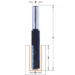 Straight router bits with insert knives for laminates