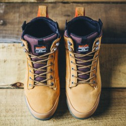 Steel-Toe Switchback Work Boots