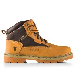 Steel-Toe Nubuck Boot Tan