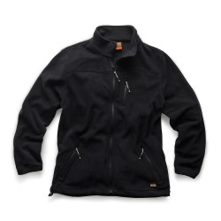 Water-Resistant Worker Fleece in Black