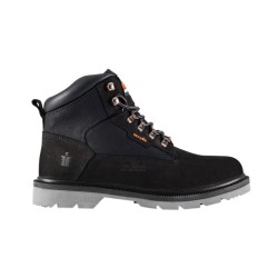 Steel-Toe Nubuck Boot Black